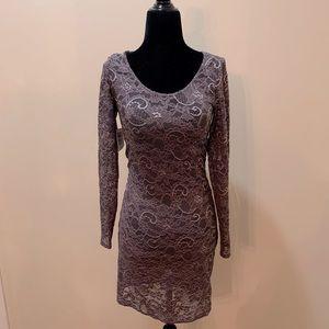 Talula Women's Stretch Lace Dress Purple
